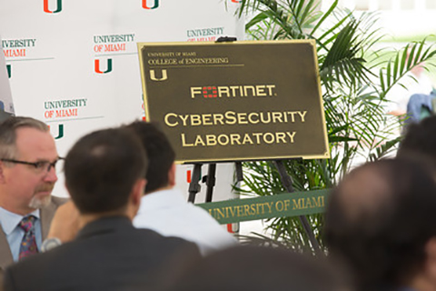 A photo from the cybersecurity laboratory inauguration event